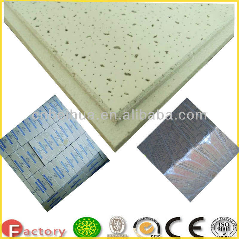 600*600 India Popular Acoustic Mineral Fiber Cement Board