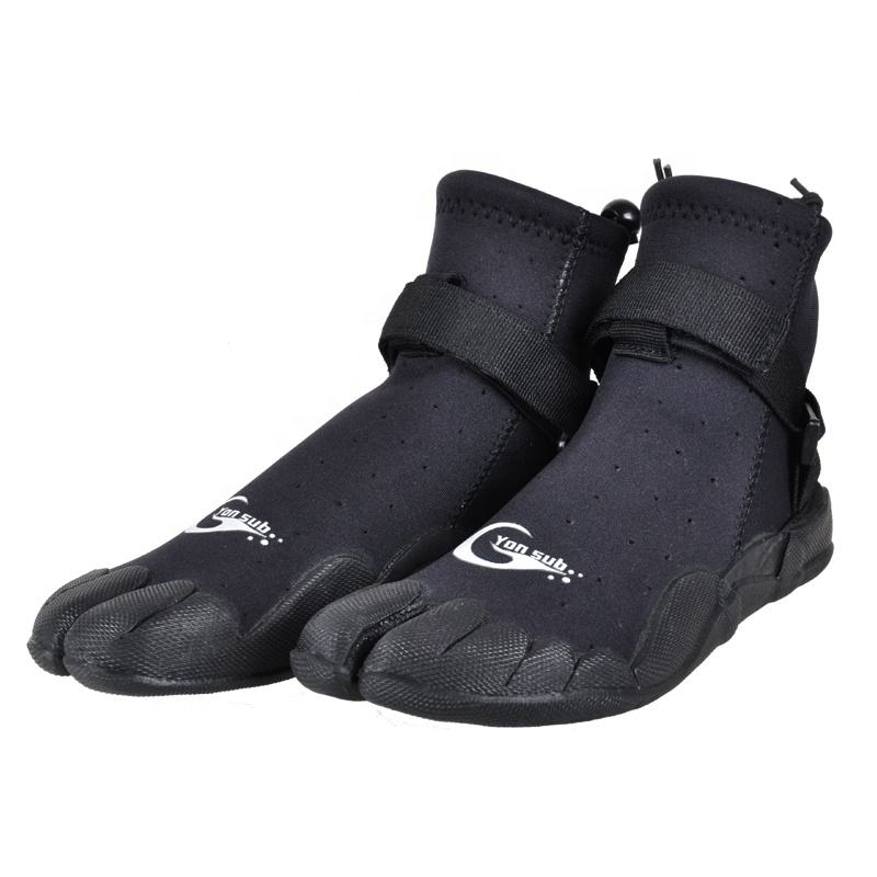 Rubber Diving Boots Outdoor Water Surfing Shoes with Finger