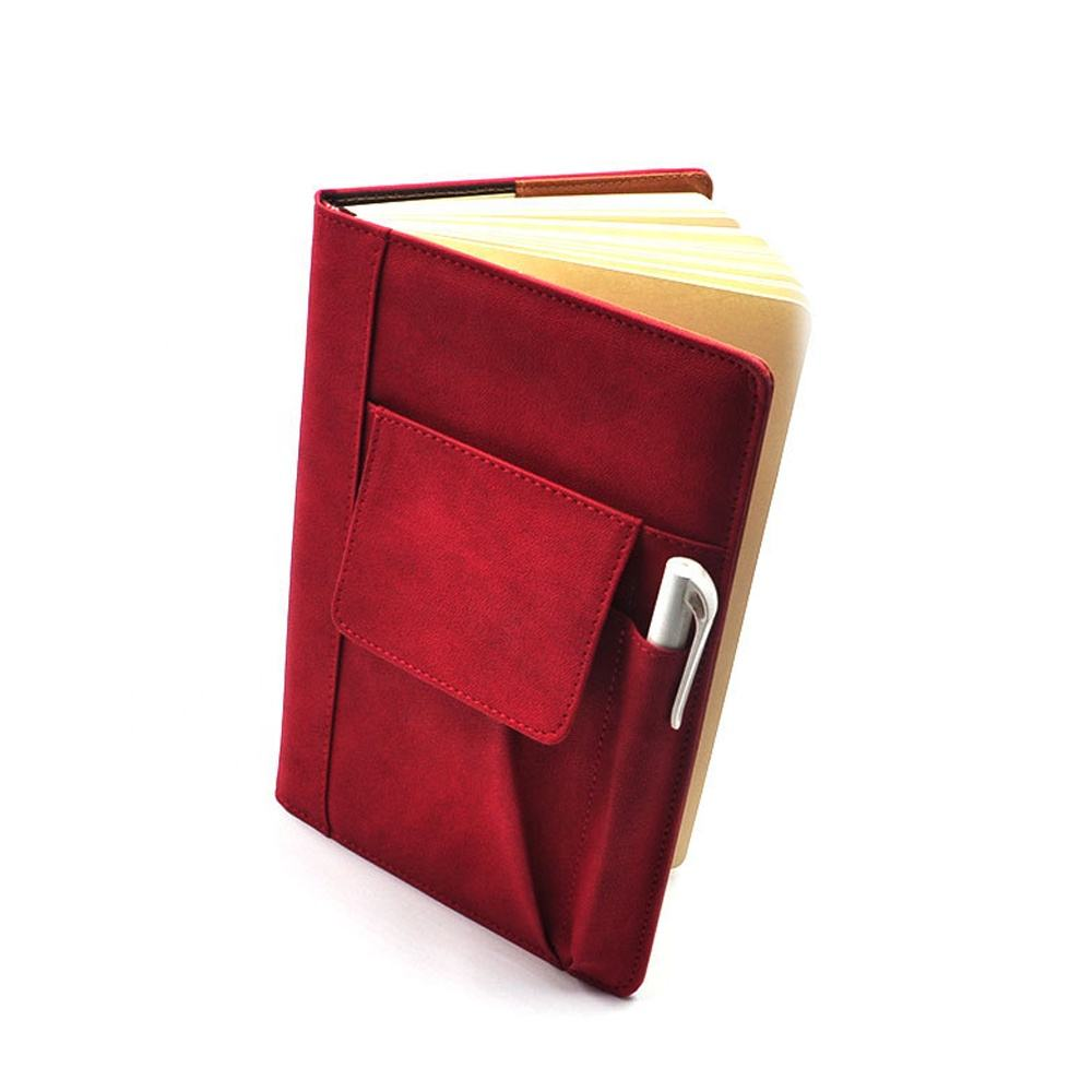 Custom High Quality Cover PU Notebook , Embossing Leather Book Cover Made in China