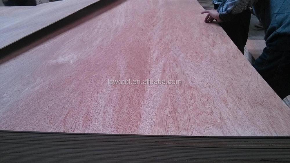 Poplar Plywood Commercial Plywood 18mm Bintangor Poplar Plywood