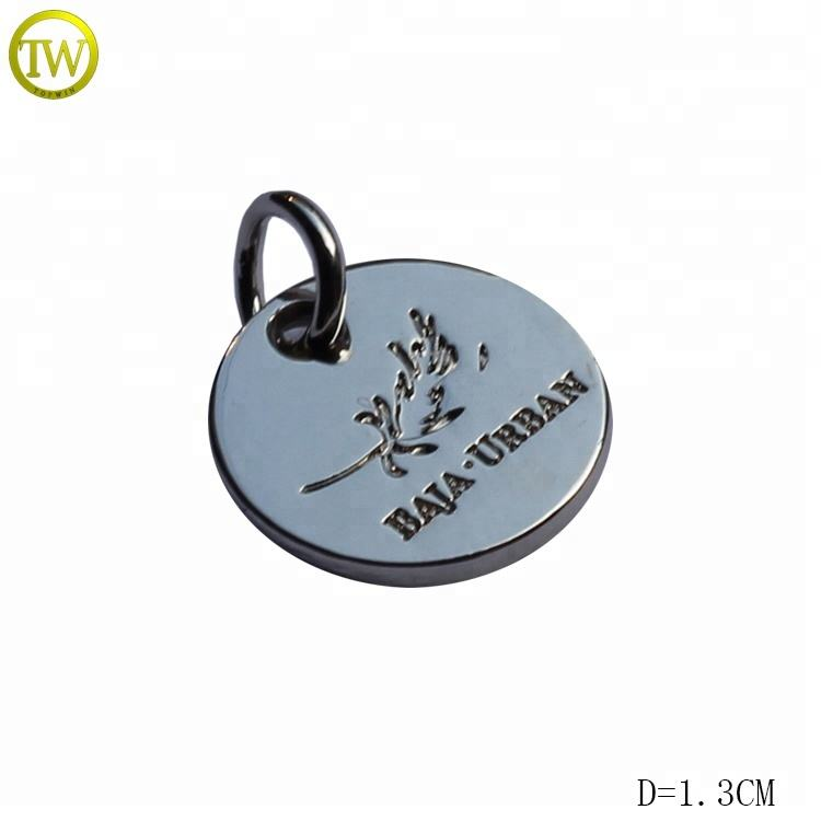 Custom logo pendent engrave metal tags charms letter word phrase tags