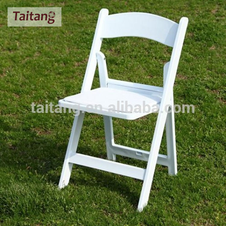 Foldable white wedding wooden folding chair for events