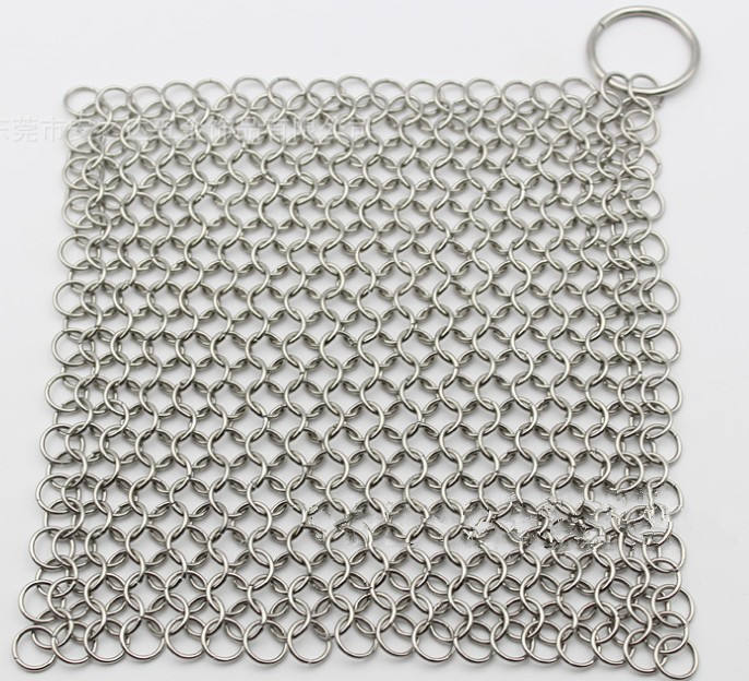 Inspire jewelry wholesale stainless steel 316 ring brush pans mesh for European and American oven grills steel mesh bag