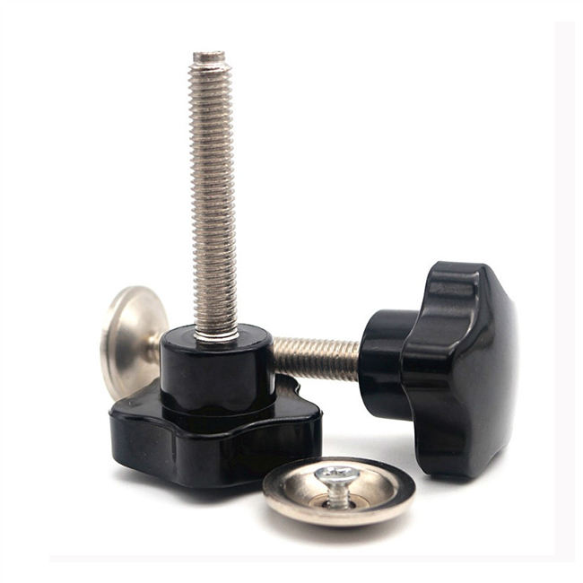 Male Thread Screw On Plastic Star Head Clamping Knob Handle