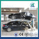 PJS-ST 2000 Tilting hydraulic vehicle 2 car metal carport with CE