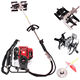 52cc 4 in 1 Multifunction Brush Cutter Garden Tools With Chain Saw /Blade/Hedge Trimmer