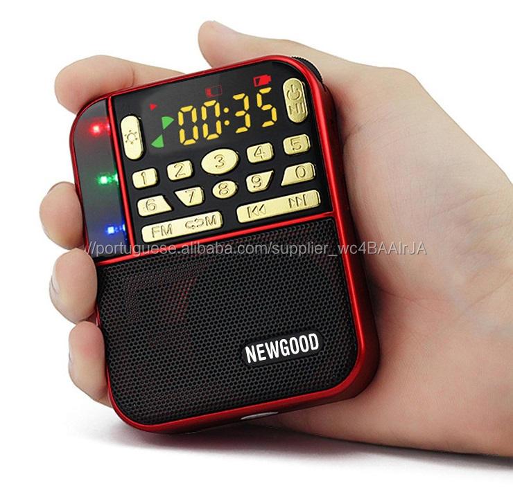 Multifuncional Digital Mp3 Radio Mini Speaker <span class=keywords><strong>M</strong></span>úsica Portportable Mp3 Music Player Rádio <span class=keywords><strong>Fm</strong></span> Rádio Tf Usb Speaker Led Light