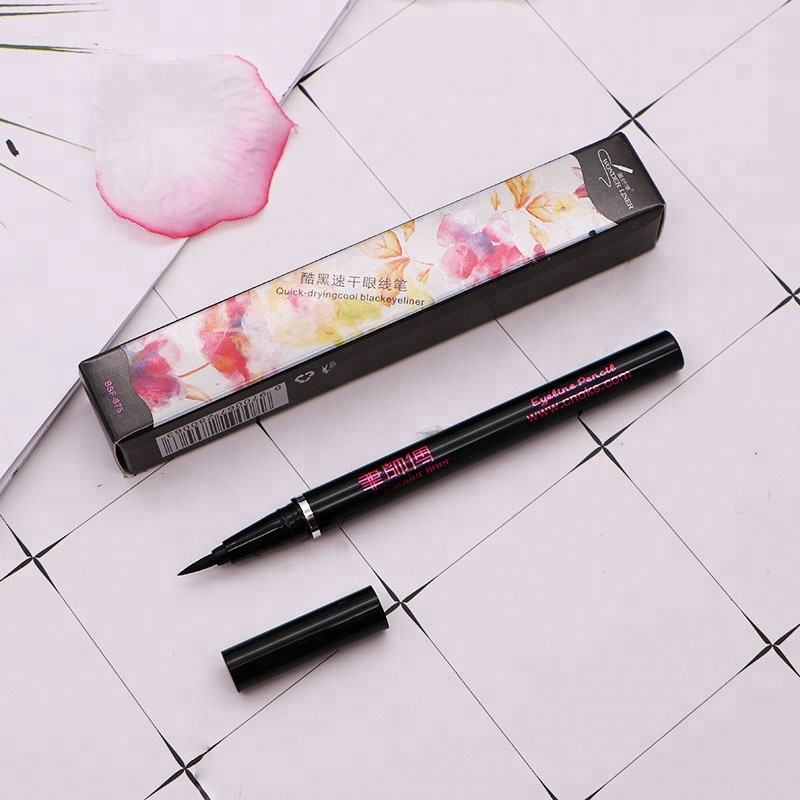 Long Lasting Liquid Eyeliner Black Thin Mark Waterproof Music Flower Eyeliner Pen