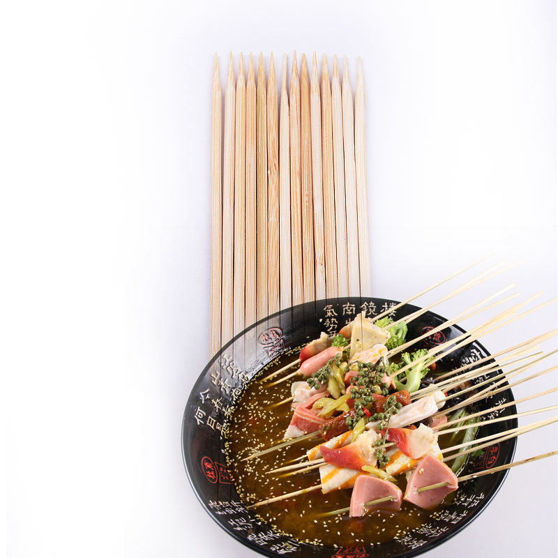 Factory wholesale bbq tools round bamboo skewers from China Yushun