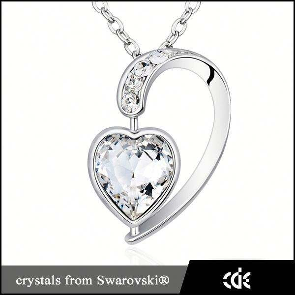 Cristal coeur collier, Neckless <span class=keywords><strong>bijoux</strong></span> colliers mode 2015 fait avec <span class=keywords><strong>Swarovski</strong></span> <span class=keywords><strong>Elements</strong></span>