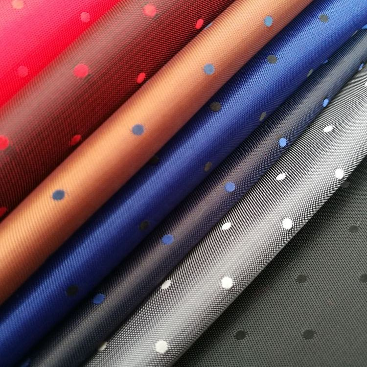 poly/viscose woven fabric dobby two tone jacquard lining jacket suit lining polka dot poly viscose lining fabrics