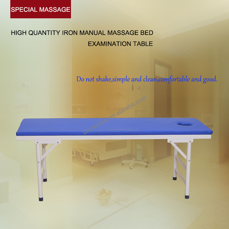 High quantity iron manual massage table with hole