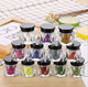 Quick Dry 12 random colors glitter max color loose eyeshadow pigments marble eye shadows in a box