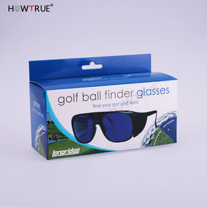 Professional Black Golf Ball Finder glasses Polarized With Blue Lens