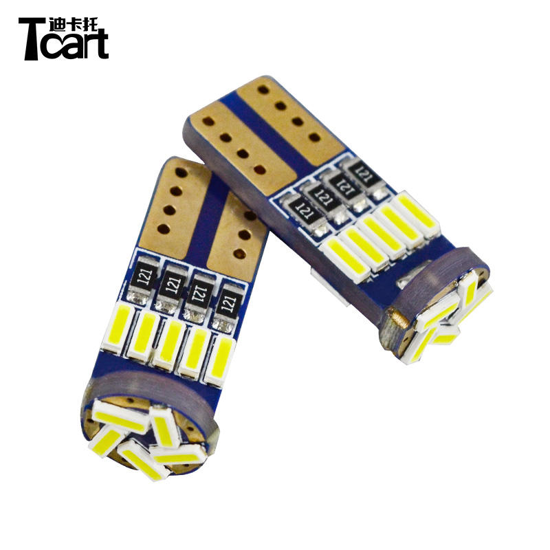 Tcart Auto Verlichting Wit 194 15 SMD 4014 Auto LED Signal Light Canbus Error Gratis Led Parking DC 12 V T10 W5W auto licht