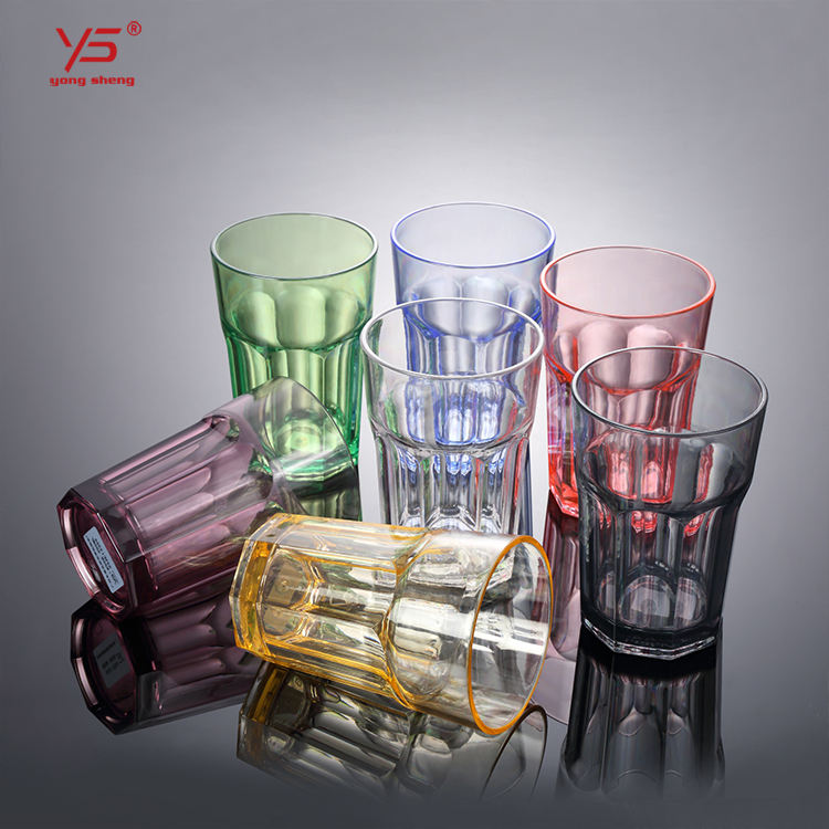 Factory supply high class PC unbreakable plastic water cup with design polycarbonate glass cup clear poly cups philippines