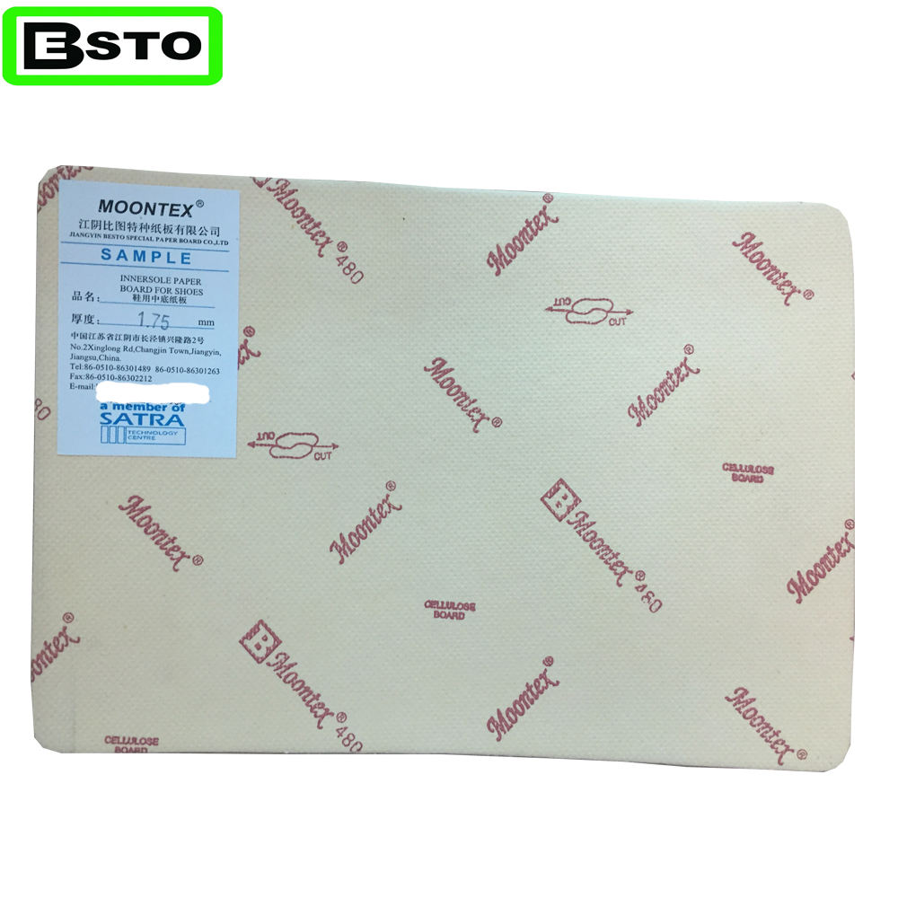 Jiangyin besto high latex cellulose fiber Insole Paper board