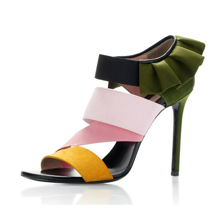 2018 new trend fashion women's heel sandal shoe in DongGuan