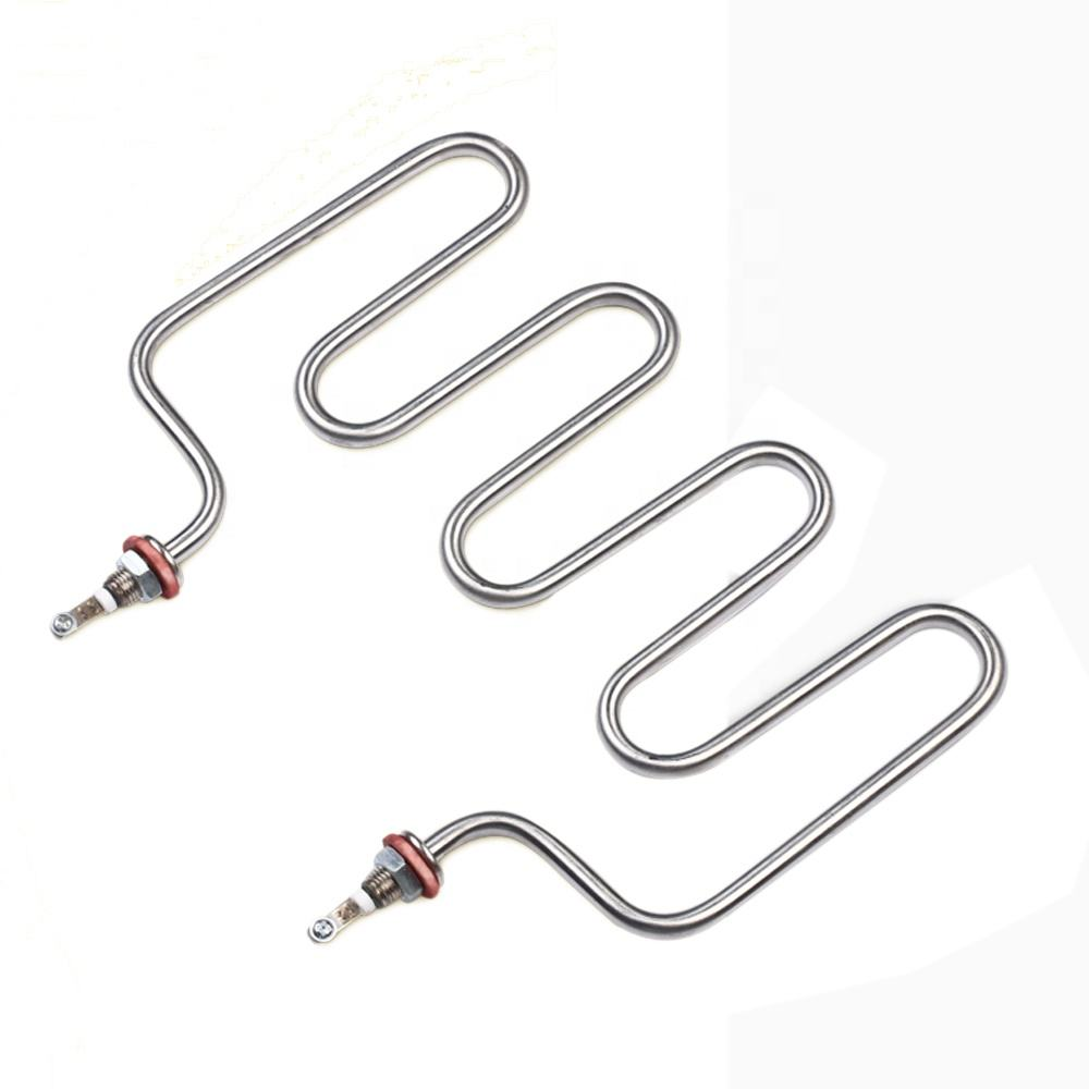 220v 3kw 4U Type Industrial Electric Immersion Water Heating Element Tube Tubular Heater Element for Rice Steaming