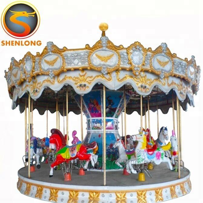 Widely Used Amusement Ride Mini Kids Carousel Horse Rides For Sale
