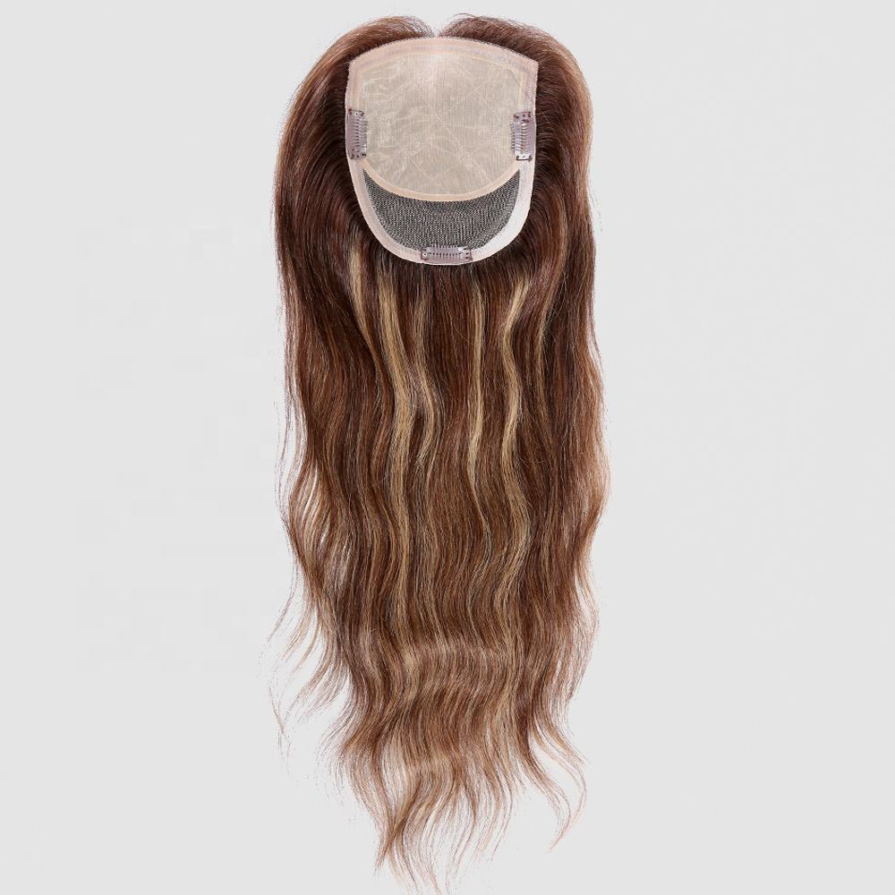 Best Selling Women Hair Toupee Wholesale long Hair Extension silk top human hair toupee ladies