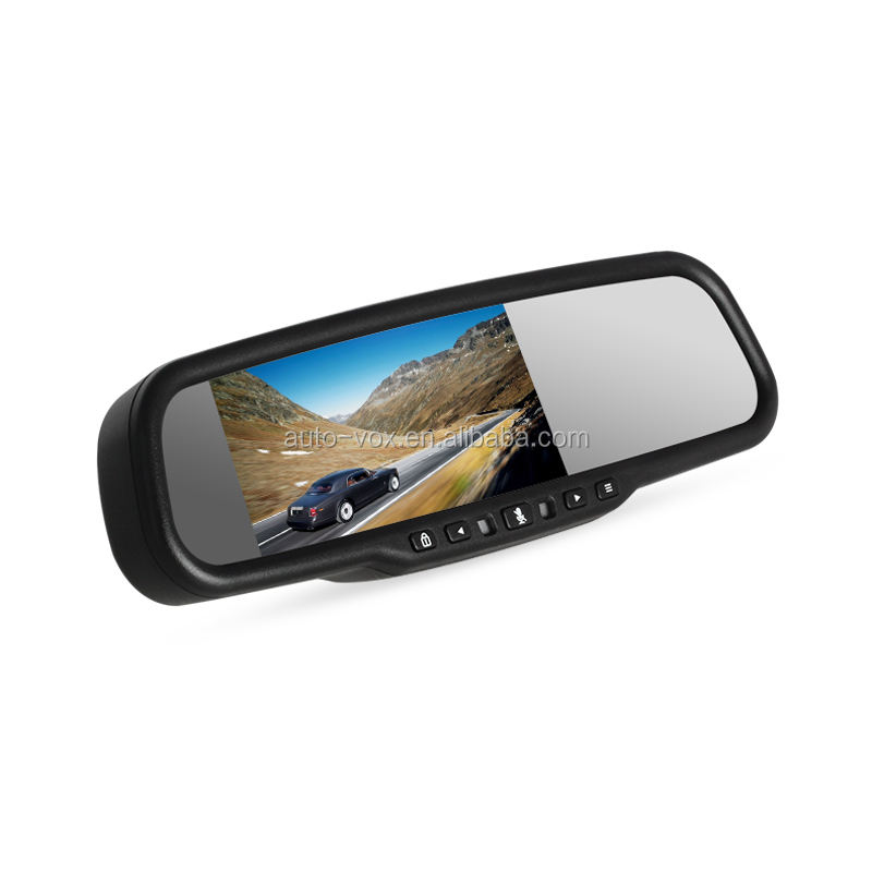 1296P Auto-adjust brightness rear view mirror car monitor dvr