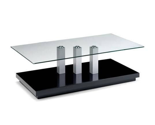 Coffee Table Chrome and Glass Tokyo Design Coffee Table