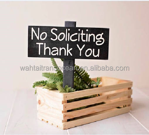 No Soliciting Yard Sign /Garden Decor Flowerbed crates