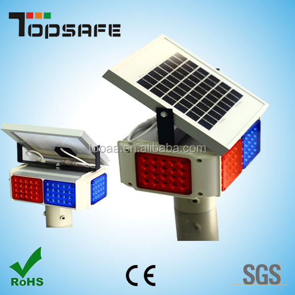 SGS&BV Factory warning solar led light traffic road blinker
