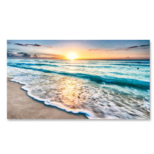 Waves Beach Sunset Ocean Nature Landscape Ocean Scene Wall  Art On Canvas Print For Home Decorate