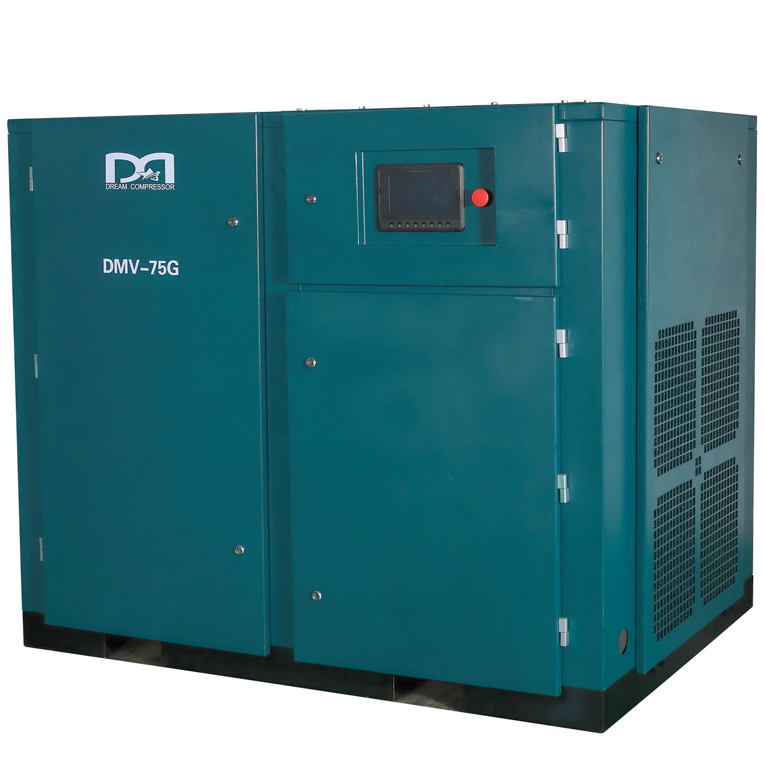 Variable frequency drive 75kw portable screw air compressor 200cfm 8bar