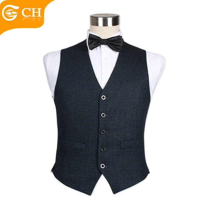 Factory Direct Sale New Casual 5 Button Navy Blue Vest For Men