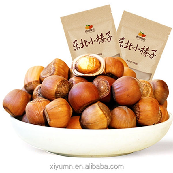 Organic nuts in shell grade AAA raw hazelnuts