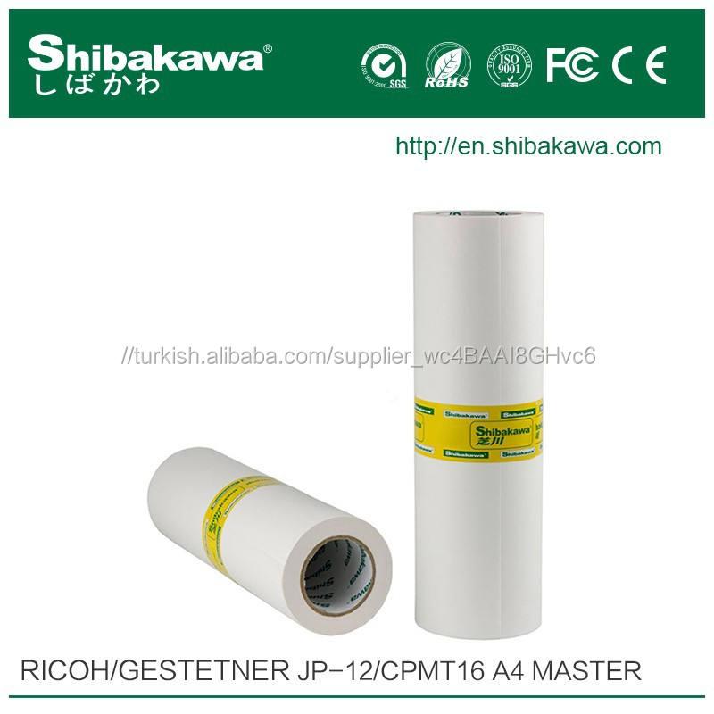 JP-12/CPMT16 A4 baskı ana rulo için RICOH ve GESTETNER