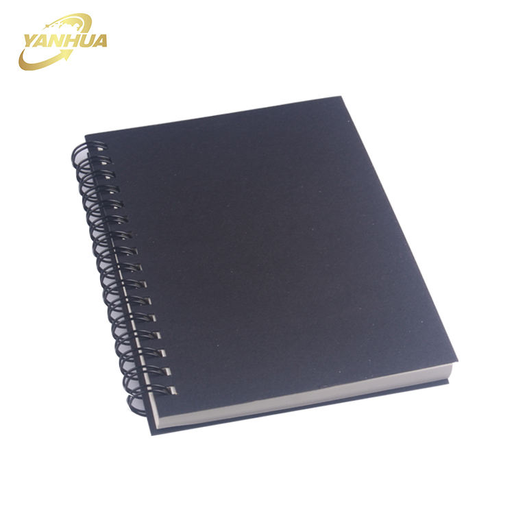 Logo Printed Practical Hard PVC Cover Cheap Spiral Notebook