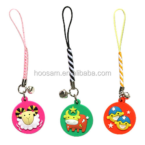 Mobile phone strap;customized cell phone charm ;ornament 3d soft pvc cool cell phone charm