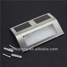 FQ-529 modern wall mounted stainless steel garden solar stair step lights with CE and ROHS certificates