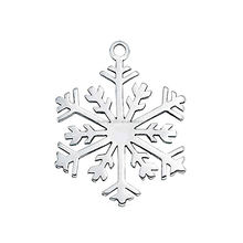 Yiwu Factory Fashion Bulk Simple Custom Design Winter Item Silver Snowflake Charms & Pendants