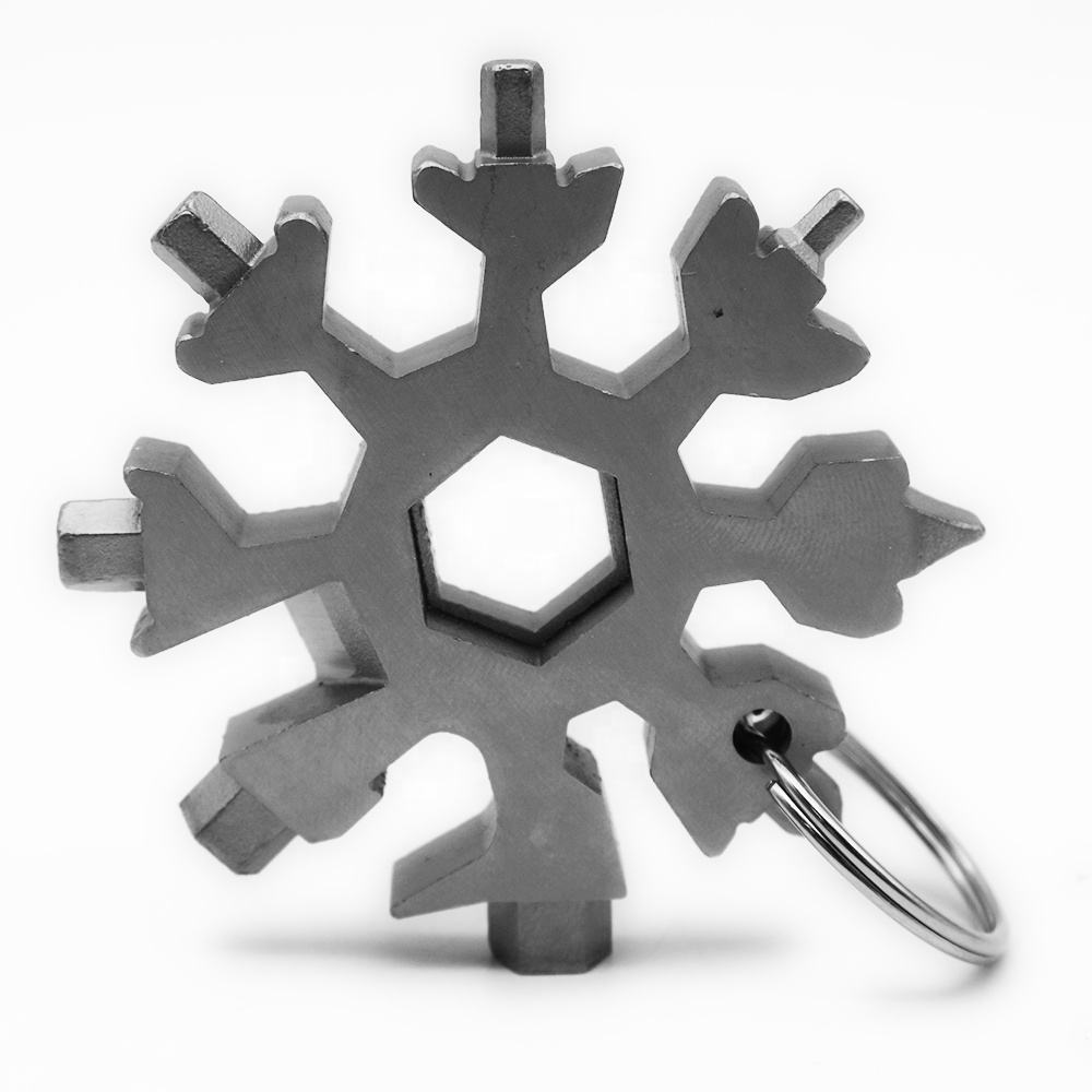2020 Magic Snowflake Multi Tools Stainless Steel Snowflake Shape Wrench with Key Chain