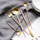French Elegant Rose Gold Cutlery Flatware Set 18/10 Stainless Steel Gift