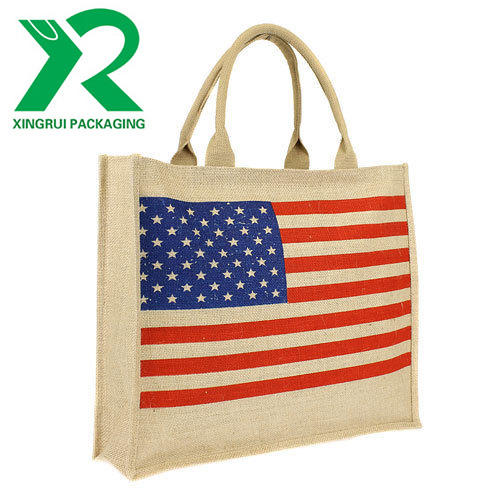 Excellent quality customized Printed 유기 Eco Friendly 황 마 Tote Bag 마 shopping bag
