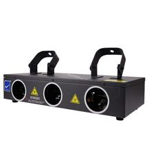 strobe light Green+Blue+Red 3 heads laser show system KTV DJ CLUB BAR stage party lighting lights