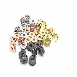 1000pcs 2.4mm Seamless Smooth Round Metal Copper Spacer Beads For Jewelry Diy