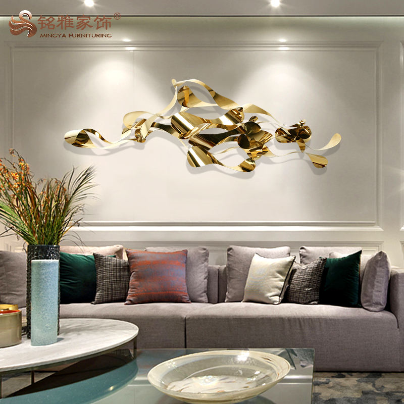 3D metal gold hotel decor wall decor sculpture for wall art hanging decoration