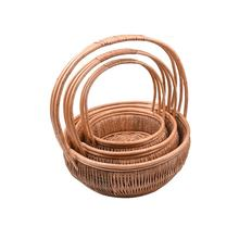 Customized natural cheap gift wicker basket with handle/wholesale mini willow wicker basket with handle for flower