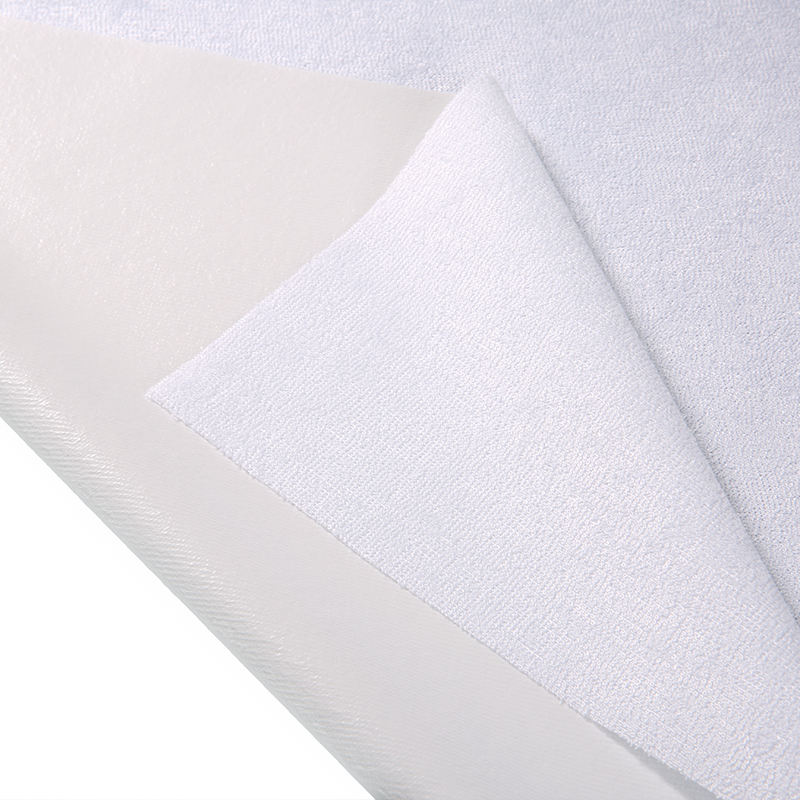 Home textile bamboo cotton terry fabric laminated with 0.02mm TPU polyurethanes Waterproof breathable bed bug Laminated fabric