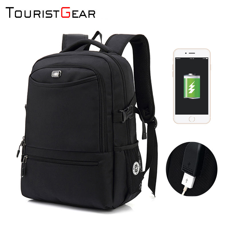 Wholesale Travel Laptop Backpack 2 compartment waterproof backpacks with USB Charging