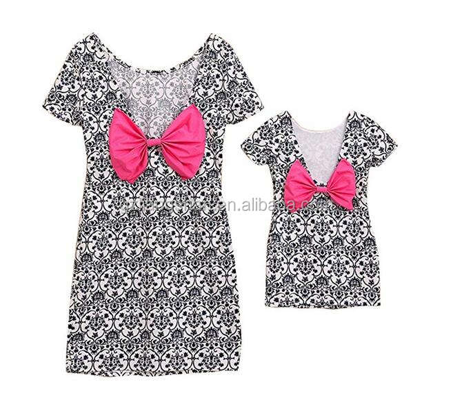 OEM Family Clothes Outfits Mother Daughter matching Dresses