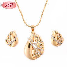 Fashion Jewelry Supplier 2018 African 18K Gold Plated Fashion Jewelry Sets