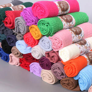 TOROS Hot Selling Stock 76 Colours Shawl Scarf Islamic Muslim Women Plain Crinkle Hijab